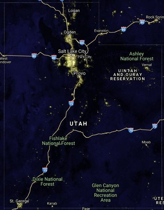 Map dark light Dark Map